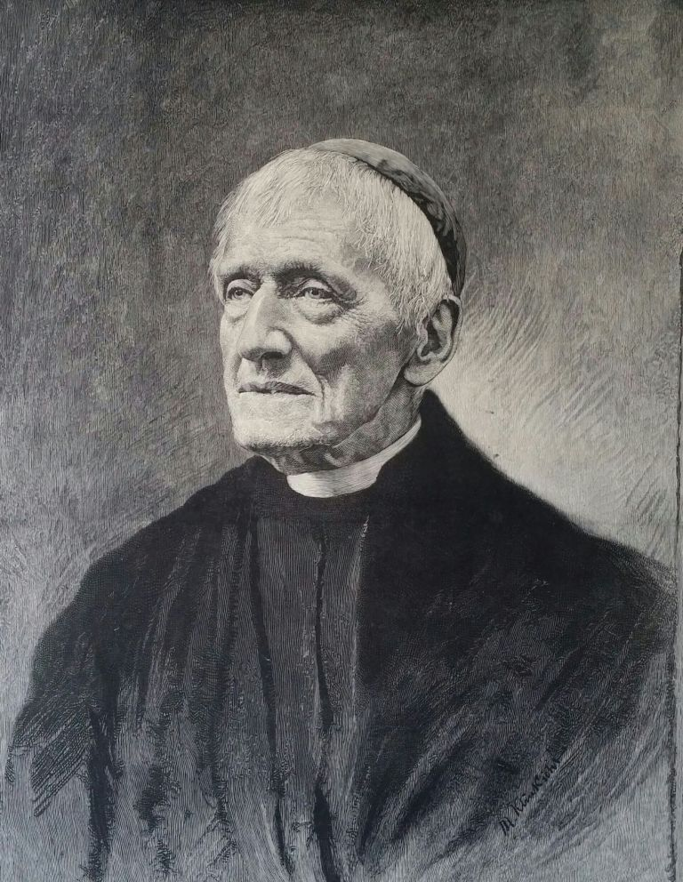 The Late Cardinal J. H. Newman, D. D.; Supplement to the Illustrated News of the World. Print, John Henry Newman.