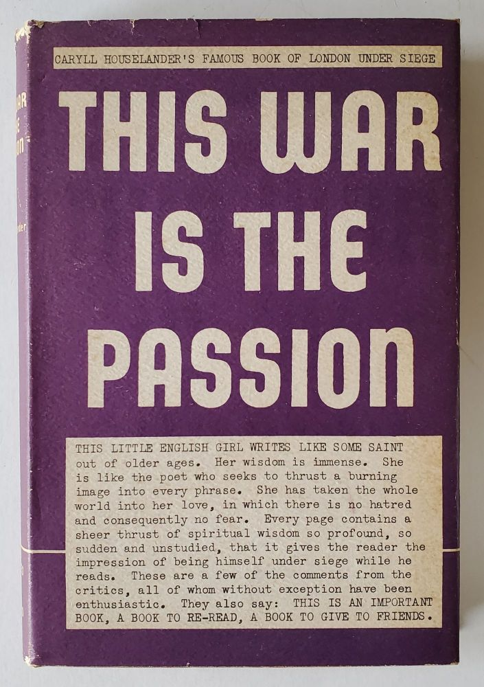 This War is the Passion. Caryll Houselander.