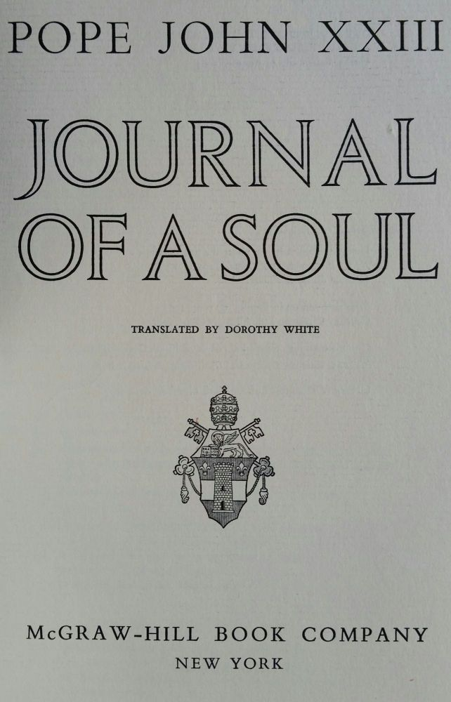 Journal of a Soul. Pope John XXIII.