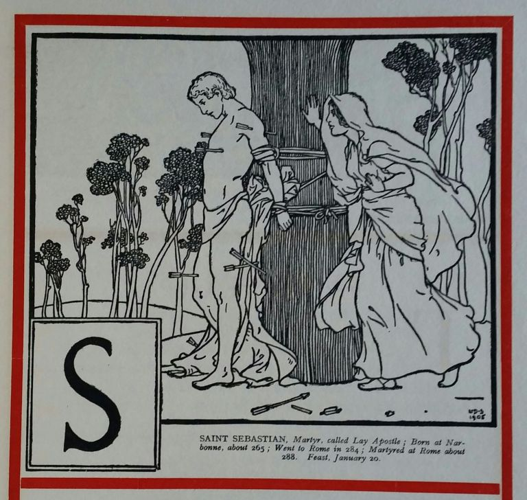 An Alphabet of Saints; Rhymed by Robert Hugh Benson Reginald Balfour: Charles Ritchie; Drawn by Lindsay Symington. Children, C. Ritchie R H. Benson, R. Balfour.