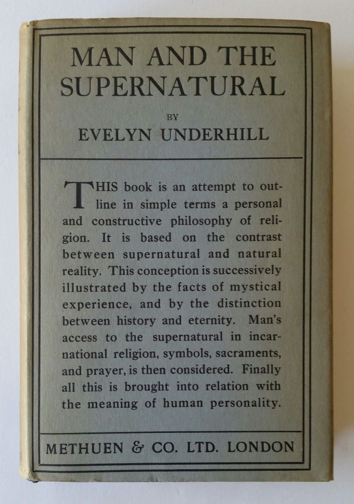 Man and the Supernatural. Evelyn Underhill.