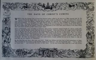The Days of Christ's Coming; The Picture painted by Fritz Wegner - The Story told by Dorothy L. Sayers.