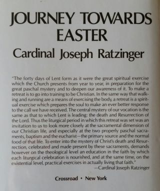 Journey Towards Easter; Retreat given in the Vatican in the presence of Pope John Paul II
