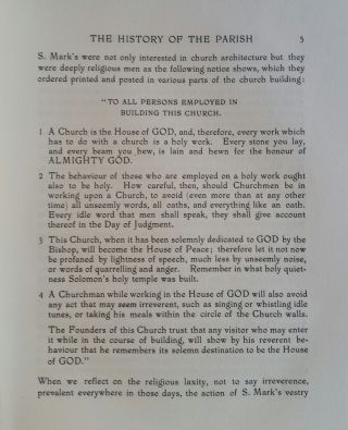 S. Mark's Church Philadelphia and its Lady Chapel; With an Account of its History and Treasures