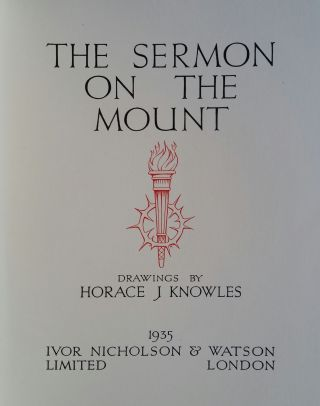 The Sermon on the Mount; Drawings by Horace Knowles