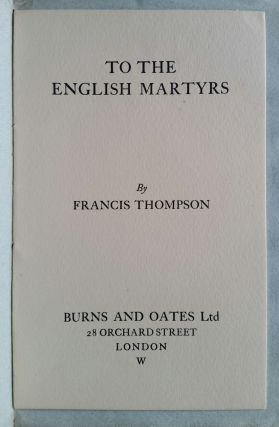 Ode to the English Martyrs