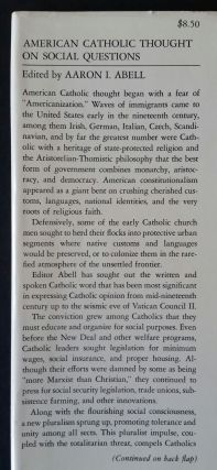 American Catholic Thought on Social Questions