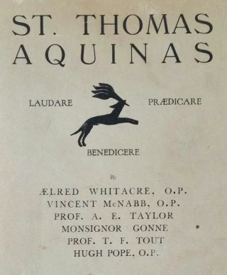 St. Thomas Aquinas; Being Papers Read at the Celebration of the Sixth Centenary of the Canonization