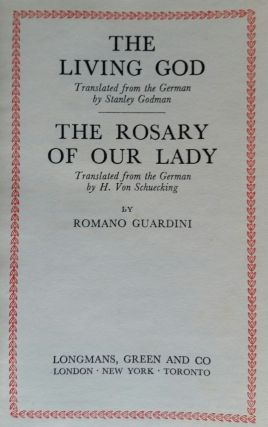 The Living God (with) The Rosary of Our Lady