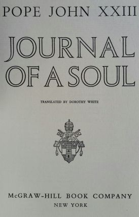 Journal of a Soul. Pope John XXIII