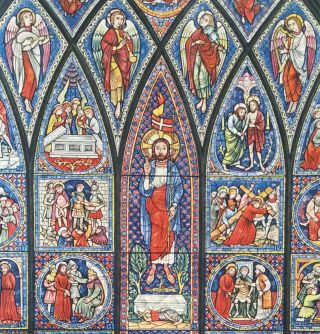The Story of Adam and Christ; The verses written by Dorothy L. Sayers - The window painted by Fritz Wegner
