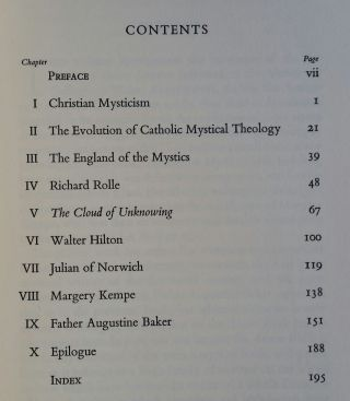 The English Mystical Tradition