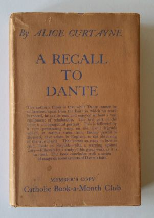 A Recall to Dante. Alice Curtayne