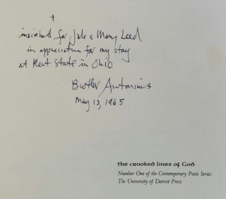 The Crooked Lines of God; Poems 1949-1954