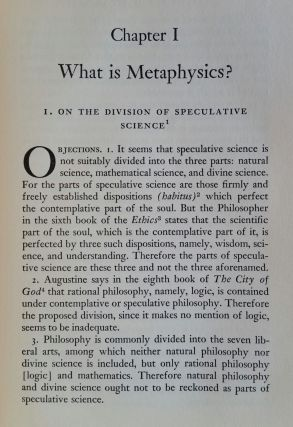 An Introduction to the Metaphysics of St. Thomas
