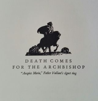 Death Comes for the Archbishop; With Drawings and Designs by Harold Von Schmidt