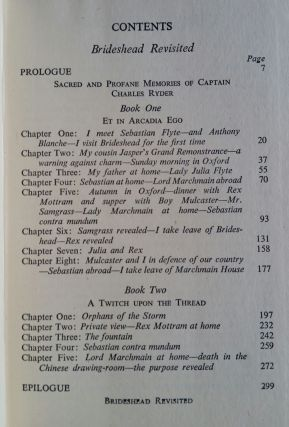 Brideshead Revisited; The Sacred and Profane Memories of Captain Charles Ryder