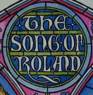 The Song of Roland; Translated from the Old French by Isabel Butler. Book Arts, Bruce Rogers